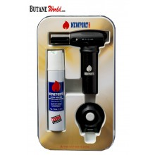 Newport Turbo Torch + Butane 90ml Package - Black