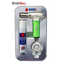 Newport Turbo Torch + Butane 90ml Package - Green
